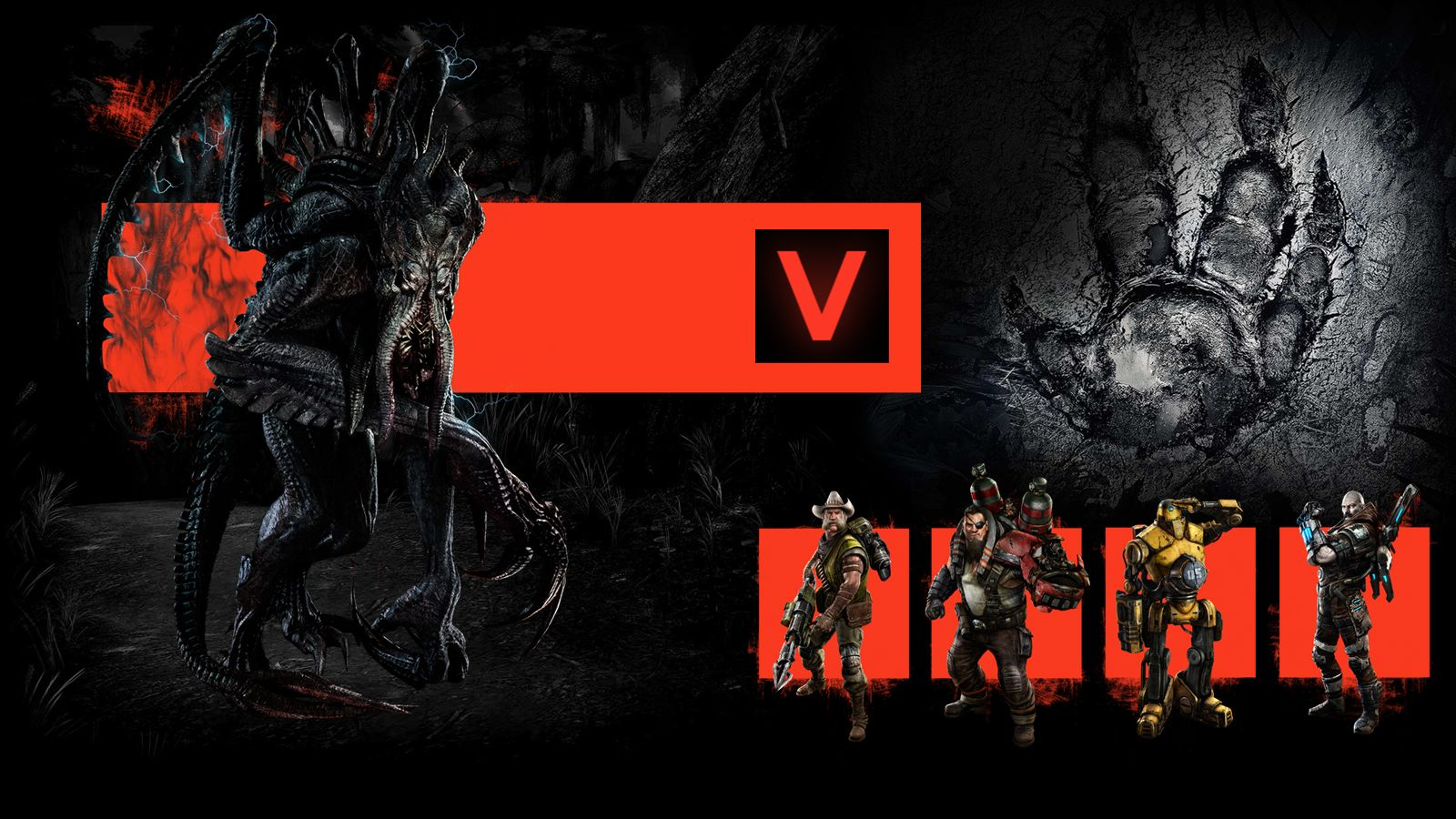 Evolve characters - roles 1v4