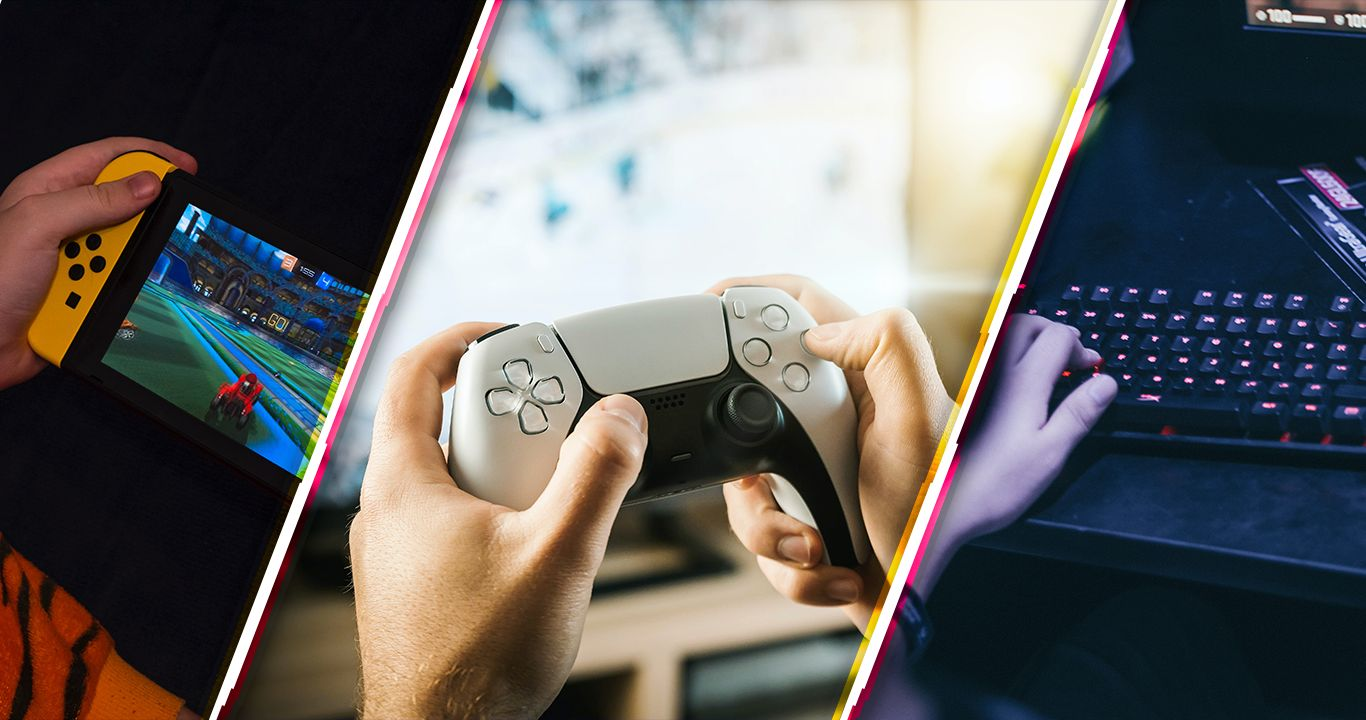 Nintendo switch, Control PS5, teclado gaming