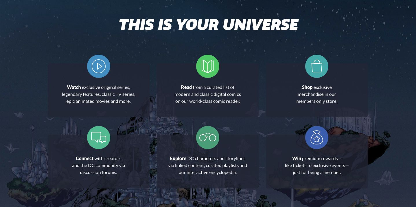 this is your universe. DC Universe online streaming service